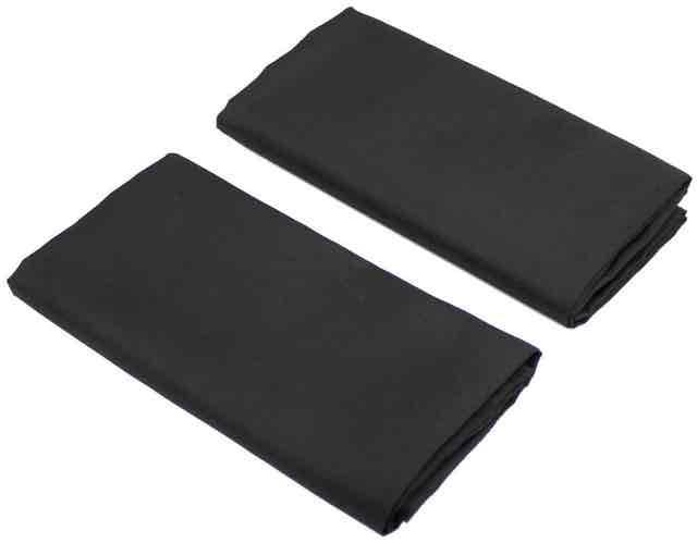 槌屋ヤック 快適お手軽マグネットカーテン ブラック Lサイズ 2枚入り LS-138